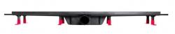 CERSANIT - Sprchová zástena WALK-IN MILLE BLACK 120x200, číre sklo + ŽĽAB vrátane ROŠTE (S161-004-SET01), fotografie 12/6