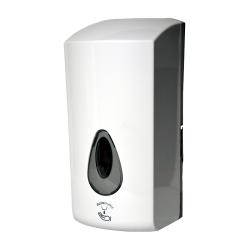 Sanela SLDN 08E Automatický dávkovač mýdla a gelové desinfekce, 1 l, bílý plast ABS, bateriové napáj (SL 72081)