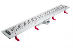 LaVilla sprchový žlab plastový MIANO s roštem HARMONY  700mm boční odtok DN50 (LA25HNL0700B5)