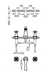 TRES - Dvoupáková umyvadlová baterieMožnost samostatné instalace. (24210601OR), fotografie 2/1