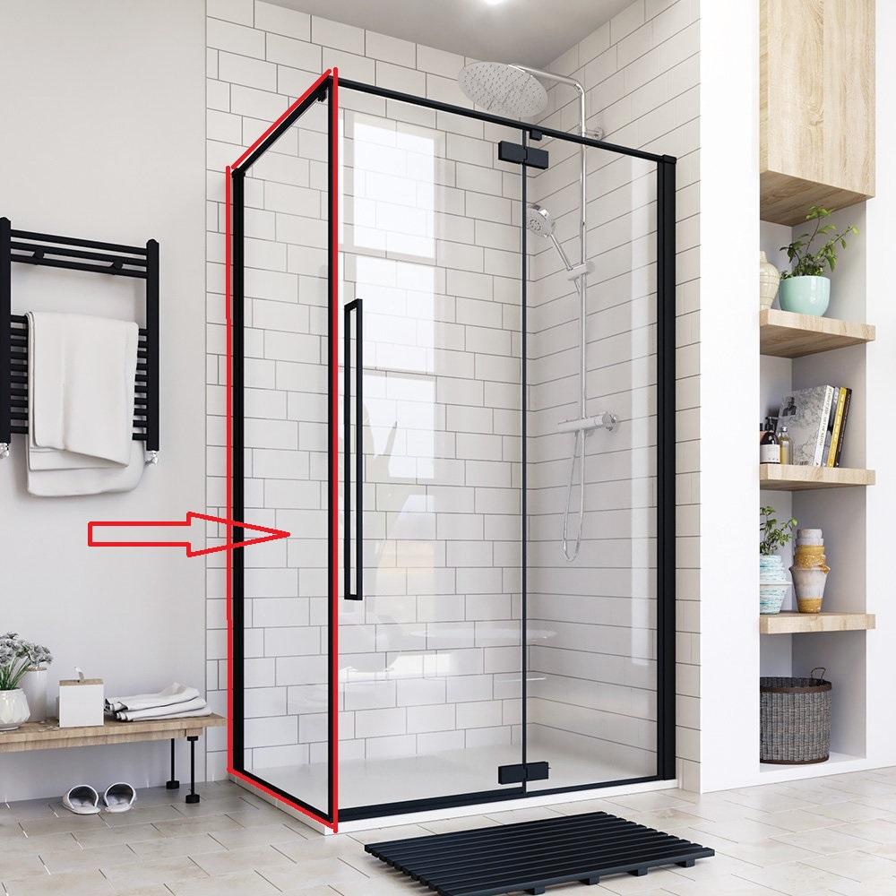 Aquatek - JAGUAR F1 90 pevná boční stěna do kombinace s dveřmi, 87-90 cm, sklo 8mm (JAGUARF190)