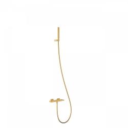 TRES - Jednopáková baterie pro vanu-sprchuRuční sprcha snastavitelným držákem, proti usaz. vod. kamene. Flexi hadice SATIN. (20217001OR)