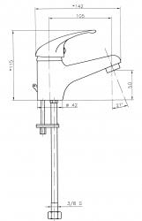 NOVASERVIS - Umývadlová batéria na studenú vodu chróm (92009/1,0), fotografie 2/2