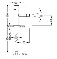 TRES - Jednopáková bidetová baterie (06212001BM), fotografie 2/1