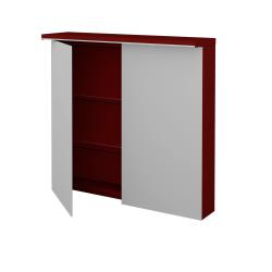 Dreja - Dvojdverová galérka MAJESTY GA2OE 80 - L07 Červená vysoký lesk (83956)