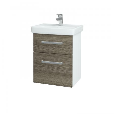 Dreja - Kúpeľňová skriňa GO SZZ2 50 - N01 Bílá lesk / Úchytka T01 / D03 Cafe (27912A)
