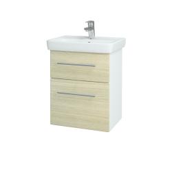 Dreja - Kúpeľňová skriňa GO SZZ2 50 - N01 Bílá lesk / Úchytka T02 / D04 Dub (27943B)