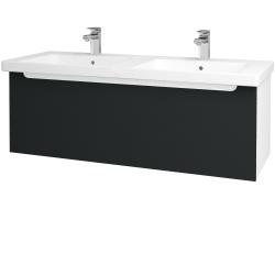 Dreja - Kúpeľňová skriňa COLOR SZZ 125 - N01 Bílá lesk / L03 Antracit vysoký lesk (67741)