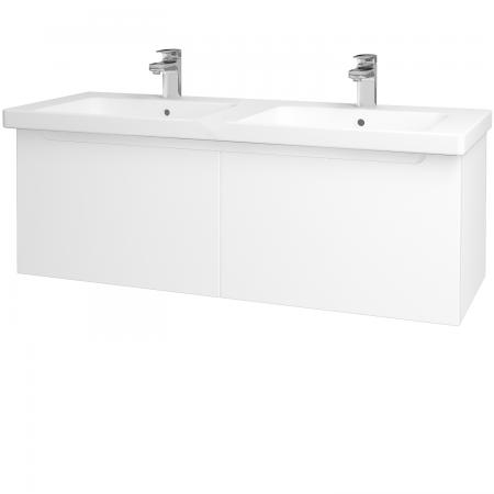 Dreja - Kúpeľňová skriňa COLOR SZZ2 125 - N01 Bílá lesk / L01 Bílá vysoký lesk (23518)