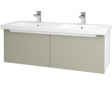 Dreja - Kúpeľňová skriňa COLOR SZZ2 125 - N01 Bílá lesk / L04 Béžová vysoký lesk (67635)