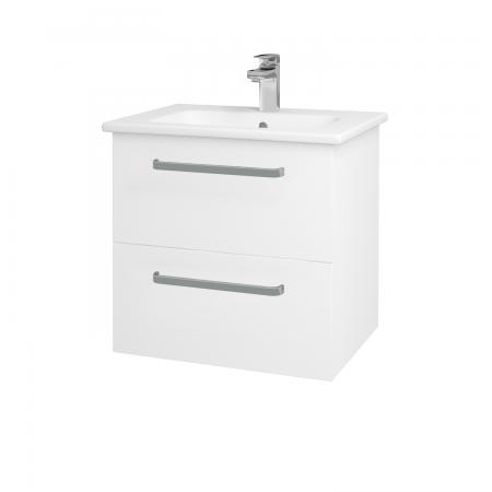 Dreja - Kúpeľňová skriňa GIO SZZ2 60 - N01 Bílá lesk / Úchytka T01 / L01 Bílá vysoký lesk (82751A)
