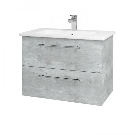 Dreja - Kúpeľňová skriňa GIO SZZ2 80 - D01 Beton / Úchytka T02 / D01 Beton (82096B)