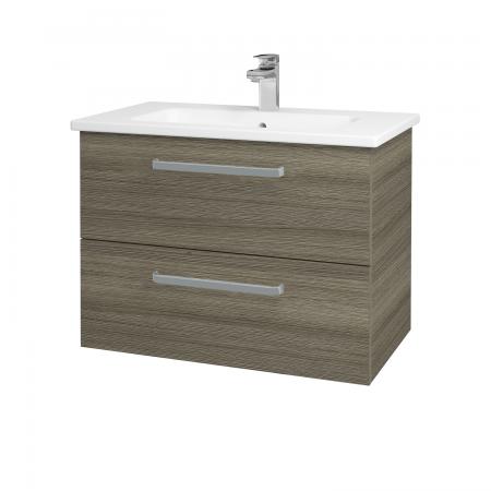 Dreja - Kúpeľňová skriňa GIO SZZ2 80 - D03 Cafe / Úchytka T01 / D03 Cafe (82058A)