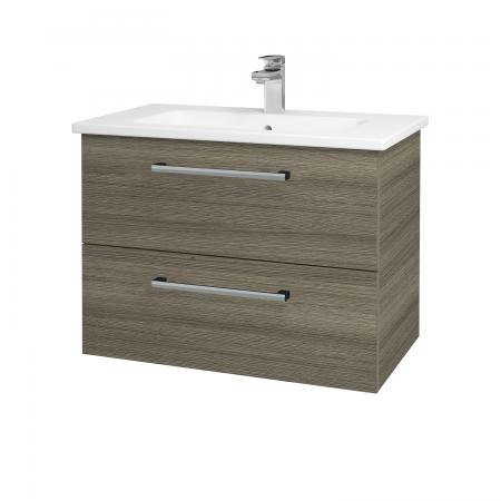 Dreja - Kúpeľňová skriňa GIO SZZ2 80 - D03 Cafe / Úchytka T03 / D03 Cafe (82058C)