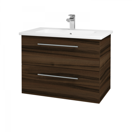 Dreja - Kúpeľňová skriňa GIO SZZ2 80 - D06 Ořech / Úchytka T02 / D06 Ořech (82034B)