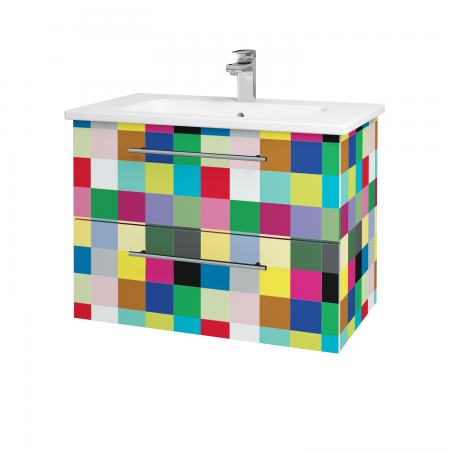 Dreja - Kúpeľňová skriňa GIO SZZ2 80 - IND Individual / Úchytka T02 / IND Individual (82119B)