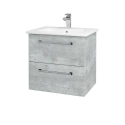 Dreja - Kúpeľňová skriňa GIO SZZ2 60 - D01 Beton / Úchytka T03 / D01 Beton (82935C)