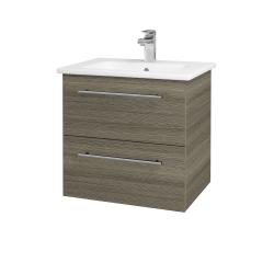 Dreja - Kúpeľňová skriňa GIO SZZ2 60 - D03 Cafe / Úchytka T02 / D03 Cafe (82898B)
