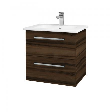 Dreja - Kúpeľňová skriňa GIO SZZ2 60 - D06 Ořech / Úchytka T03 / D06 Ořech (82874C)