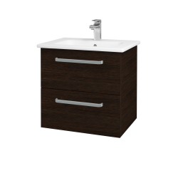 Dreja - Kúpeľňová skriňa GIO SZZ2 60 - D08 Wenge / Úchytka T01 / D08 Wenge (82928A)