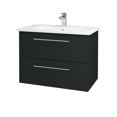 Dreja - Kúpeľňová skriňa GIO SZZ2 80 - L03 Antracit vysoký lesk / Úchytka T02 / L03 Antracit vysoký lesk (82997B)