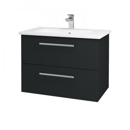 Dreja - Kúpeľňová skriňa GIO SZZ2 80 - L03 Antracit vysoký lesk / Úchytka T03 / L03 Antracit vysoký lesk (82997C)