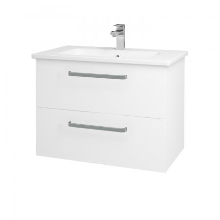 Dreja - Kúpeľňová skriňa GIO SZZ2 80 - N01 Bílá lesk / Úchytka T01 / L01 Bílá vysoký lesk (81914A)