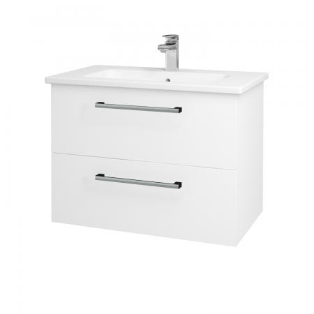 Dreja - Kúpeľňová skriňa GIO SZZ2 80 - N01 Bílá lesk / Úchytka T03 / L01 Bílá vysoký lesk (81914C)