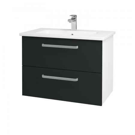 Dreja - Kúpeľňová skriňa GIO SZZ2 80 - N01 Bílá lesk / Úchytka T01 / L03 Antracit vysoký lesk (82010A)
