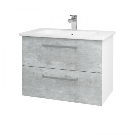 Dreja - Kúpeľňová skriňa GIO SZZ2 80 - N01 Bílá lesk / Úchytka T01 / D01 Beton (81983A)