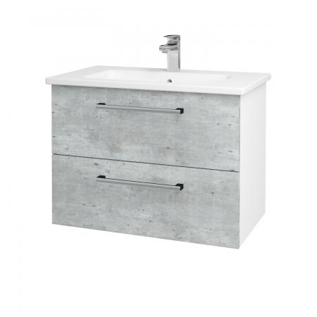 Dreja - Kúpeľňová skriňa GIO SZZ2 80 - N01 Bílá lesk / Úchytka T03 / D01 Beton (81983C)