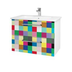 Dreja - Kúpeľňová skriňa GIO SZZ2 80 - N01 Bílá lesk / Úchytka T03 / IND Individual (82027C)