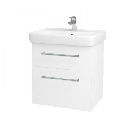 Dreja - Kúpeľňová skriňa Q MAX SZZ2 60 - N01 Bílá lesk / Úchytka T03 / L01 Bílá vysoký lesk (60117C)