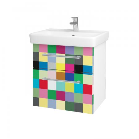 Dreja - Kúpeľňová skriňa Q MAX SZZ2 60 - N01 Bílá lesk / Úchytka T03 / IND Individual (61558C)