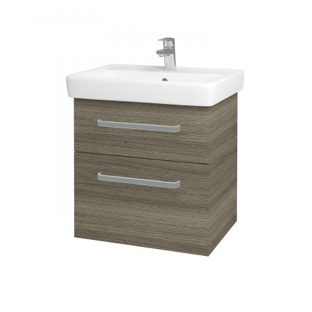 Dreja - Kúpeľňová skriňa Q MAX SZZ2 60 - D03 Cafe / Úchytka T01 / D03 Cafe (68441A)