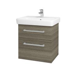 Dreja - Kúpeľňová skriňa Q MAX SZZ2 60 - D03 Cafe / Úchytka T03 / D03 Cafe (68441C)