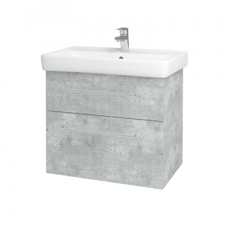 Dreja - Kúpeľňová skriňa Q MAX SZZ2 70 - D01 Beton / Úchytka T02 / D01 Beton (67536B)