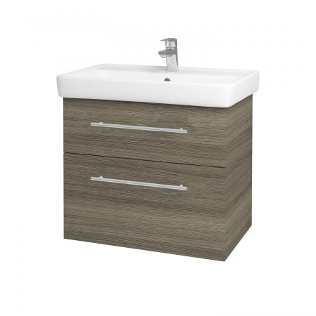 Dreja - Kúpeľňová skriňa Q MAX SZZ2 70 - D03 Cafe / Úchytka T02 / D03 Cafe (68458B)