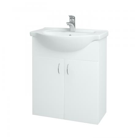 Dreja - Kúpeľňová skriňa PLUTO SZD2 65 - N01 Bílá lesk / N01 Bílá lesk (52341)