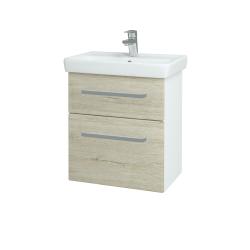 Dreja - Kúpeľňová skriňa GO SZZ2 55 - N01 Bílá lesk / Úchytka T01 / D05 Oregon (27981A)