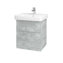 Dreja - Kúpeľňová skriňa Q MAX SZZ2 55 - D01 Beton / Úchytka T03 / D01 Beton (67512C)