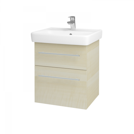 Dreja - Kúpeľňová skriňa Q MAX SZZ2 55 - D02 Bříza / Úchytka T02 / D02 Bříza (61152B)