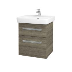 Dreja - Kúpeľňová skriňa Q MAX SZZ2 55 - D03 Cafe / Úchytka T01 / D03 Cafe (68434A)