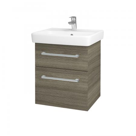 Dreja - Kúpeľňová skriňa Q MAX SZZ2 55 - D03 Cafe / Úchytka T03 / D03 Cafe (68434C)