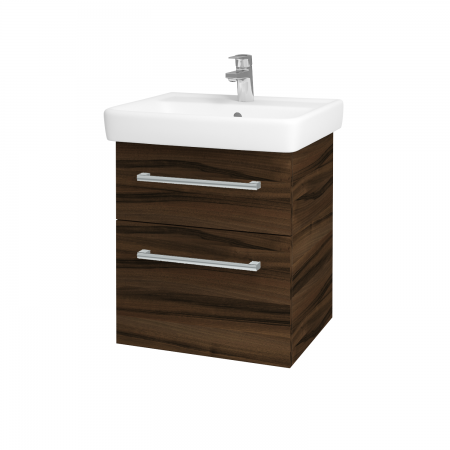 Dreja - Kúpeľňová skriňa Q MAX SZZ2 55 - D06 Ořech / Úchytka T03 / D06 Ořech (61299C)
