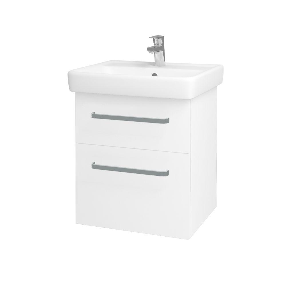 Dreja - Kúpeľňová skriňa Q MAX SZZ2 55 - N01 Bílá lesk / Úchytka T01 / L01 Bílá vysoký lesk 61251A