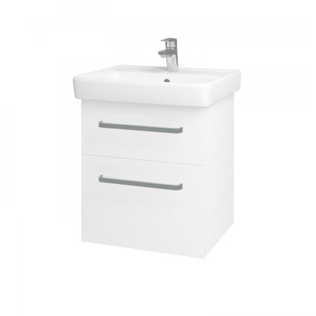 Dreja - Kúpeľňová skriňa Q MAX SZZ2 55 - N01 Bílá lesk / Úchytka T01 / L01 Bílá vysoký lesk (61251A)