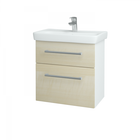Dreja - Kúpeľňová skriňa GO SZZ2 60 - N01 Bílá lesk / Úchytka T03 / D02 Bříza (28025C)