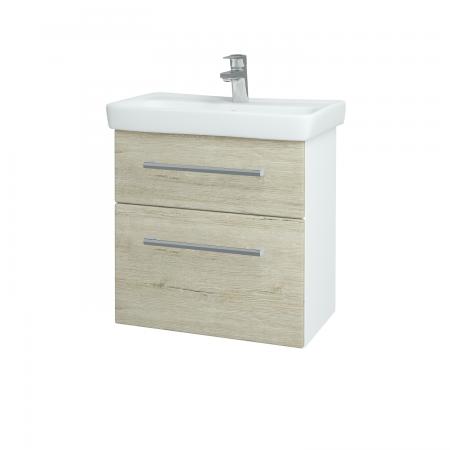 Dreja - Kúpeľňová skriňa GO SZZ2 60 - N01 Bílá lesk / Úchytka T03 / D05 Oregon (27998C)