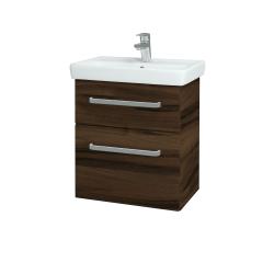 Dreja - Kúpeľňová skriňa GO SZZ2 55 - D06 Ořech / Úchytka T01 / D06 Ořech (29770A)